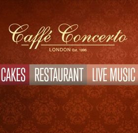 Enjoy a free hot drink and 50% off cakes with Caffe Concerto