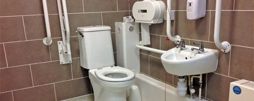 Photograph of an accessible toilet