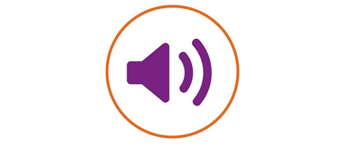Symbol depicting audio