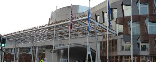 Photograph of the exterior of the Scottish Parliament