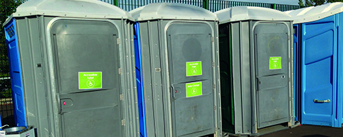 Photograph of accessible portacabins.