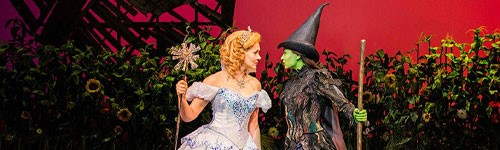 Photograph of production of Wicked at Apollo Victoria Theatre