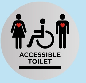 Scottish Parliament launch new accessible toilet sign on Disabled Access Day!